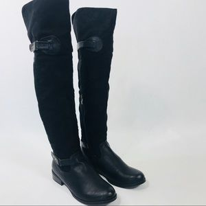 💋 Luichiny Womens Pom A Grant Black Riding Boots